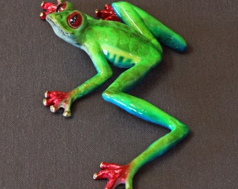 "Bronze Frog ""Casanova"" Figurine Statue Sculpture Amphibian Art / Limited Edition / Signed & Numbered"