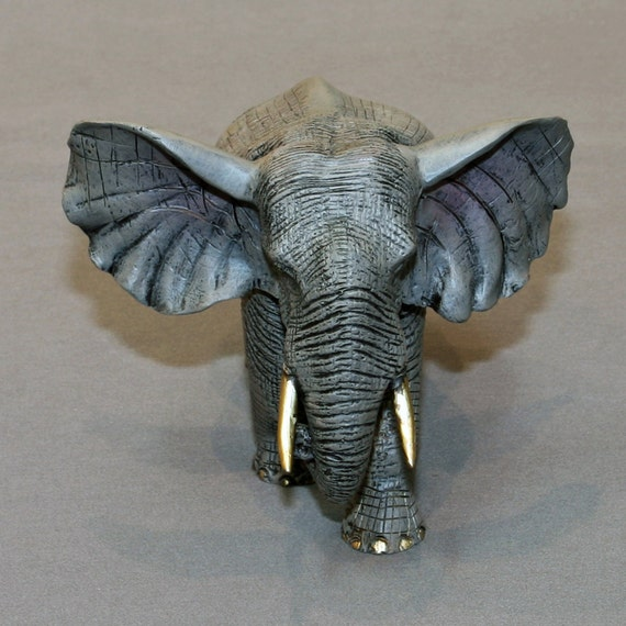 "AWESOME DETAILED Bronze ELEPHANT ""Bull Elephant"" Figurine Statue Sculpture Art / Limited Edition Signed & Numbered"