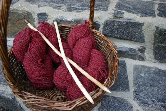 Rustic Oak Knitting Needles - Handmade Eco-Friendly, Yarn Weight Bulky to Super Bulky