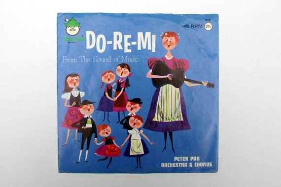 Vintage Do-Re-Mi From The Sound Of Music   45 RPM Record