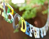 Board Book Alphabet Garland - Handmade - Made in the USA - Nursery - Baby Shower - Teacher