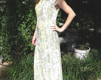 Maxi Dress Shimmering Pastels & White Sz 10 12