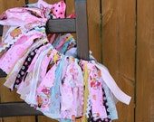 Dora the Explorer (Newborn) Premium Shabby Chic Fabric Scrap Tutu