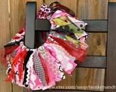 "Fabric Tutu ""I Love Lucy"" (1-3yrs) Shabby Chic Fabric Scrap Tutu"