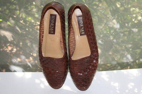 women shoes 8.5, woven leather loafer,brown leather shoes,shoes women leather,loafers women,loafers women 8.5,slip on leather shoe