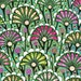 Floral art drawing, bright stylized flower pattern, art nouveau style, interior decoration - Graphic art drawing XXIX
