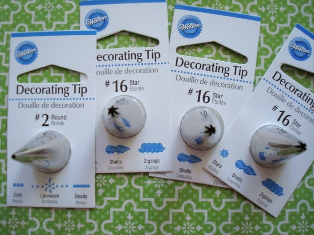 Wilton Cake Decorating Tip Numbers : Wilton Decorating Tips 16 2 Cake Decorating Star by ...