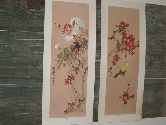 Two Vintage Asian Posters of Junhon D.Y. Chew paintings