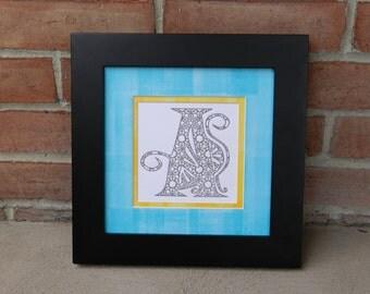 "Unframed Letterpress Print Letter ""A"""