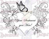 Digital Stamps - Floral Sentiments Package, Digital Image