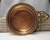Vintage copper porringer bowl baby bowl trinket pin ring dish Country Cottage decor