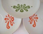 Mid-Century Modern Snack Plates, Lefton China, Scandinavian Design, 1950s 1960s
