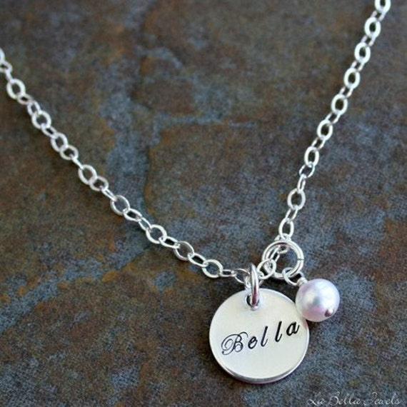 Custom Personalized Petite Name Hand Stamped by ...
