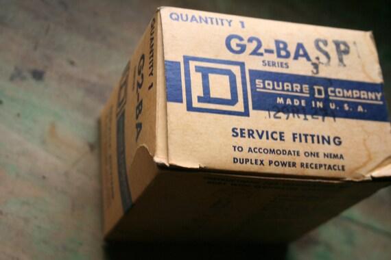 Vintage Service Fitting to Accomodate Nema Duplex Power Receptacle