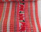 Vintage Hmong Fabric, handmade textiles, hill tribal fabric-from thailand