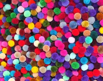 Wholesale 300 pom pom  mixed  colors, pompoms-pompoms Handmade-from thialand