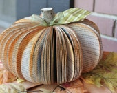 Upcycled Book Pumpkin MADE TO ORDER (as featured in Better Homes & Gardens Holiday Craft issue 2012) - whimsysworkshop