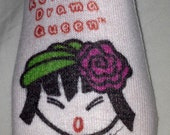 "Socktalk Designer Socks ""Korean Drama - Don't Bother Me"" Large Sz. 10 - 13 White Pair"