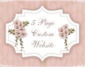 5 Page Custom Website