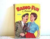 Radio Fun 1959 Mid Century Retro Annual Cloth Bound Comic Story Book UK