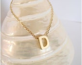 Gold INITIAL necklace - PERSONALIZED necklace - LETTER charm necklace - Everyday jewelry