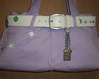 Lavender in the Spring lined with Butterfiy fabric