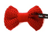 The JumBow Bow Tie for Dogs: Shown in Red - Available in OVER 30 COLORS