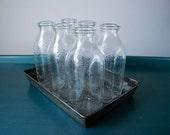 6 Milk Bottles - Vintage 1960s - Clover Creamery Virginia