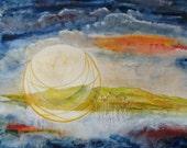 "Original Gouache Painting - ""Harvest Moon"""