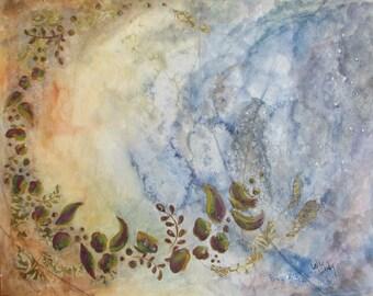 "Original Gouache Painting - ""Chasing the Starlight"""