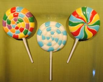 Swirl Chocolate Lollipops or Old Fashion Lollipops
