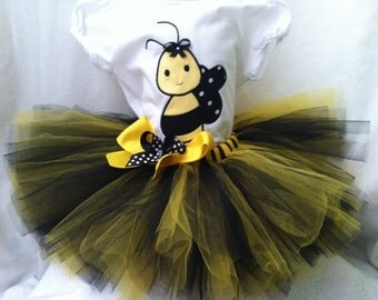 Gorgeous bumble bee tutu and onesie/shirt