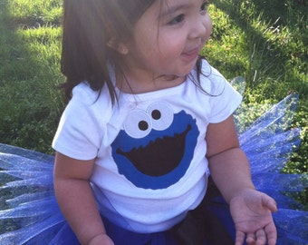 Adorable cookie  monster tutu with onesie/shirt FREE PERSONALIZE
