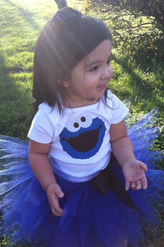 adorable cookie monster tutu  onesieshirt