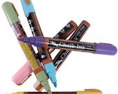 Chalk Ink - Chalkboard Marker - 6 Color Pen Set - 6mm - by Simple Shapes