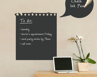 Memo Wall Decal - Chalkboard Wall Decal - by Simple Shapes
