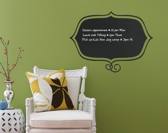 Stylish Memo, Chalkboard Wall Decals, Framed Chalkboard Decal - by Simple Shapes