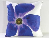 Garden Flowers Pillow Cover: Periwinkle