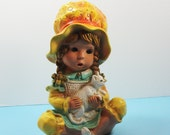 Vintage 1970s, Universal Statuary, Girl Figurine With Cat