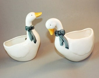 Ceramic Duck Wall Pocket Set
