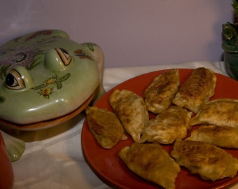 Vegan Saurkraut  pierogies, love,natural,healthy ingredients.
