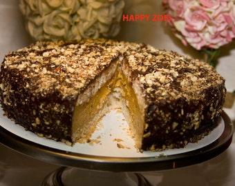 Vegan Hazelnut Pumpkin Smile chocolate cheesecake, love, animal free cruelty,no eggs,no dairy.