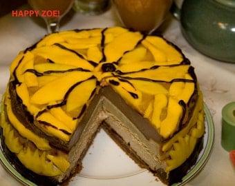 Vegan Mango Dream vanilla chocolate  cheesecake , love, animal free cruelty,no eggs,no dairy, vegan suprise