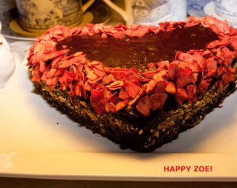 Vegan Gluten Free Sexy Cherry Chocolate cake, natural and healthy ingredients,no eggs,love,birthday.