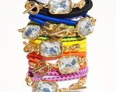 Neon Bungee Wrap Bracelet With 18k Gold Dipped Closure