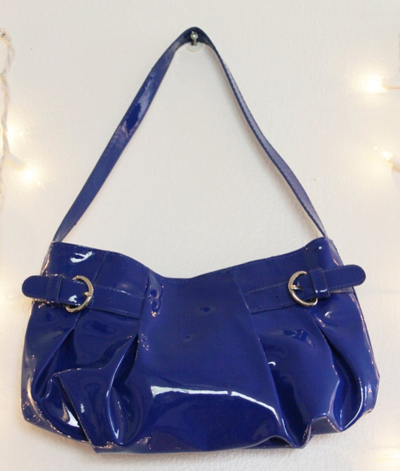 RESERVED: Blue Retro Purse (Price Negotiable)