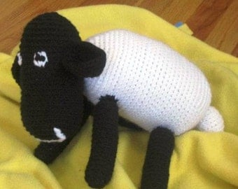 Handmade Crochet Stuffed Animal - Sheep