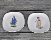 Nelson Ware Made in England Pink Lawrence and Blue Boy Dishes