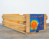 Napa Valley Media/Cassette Wooden Storage Crate with Gold Coast 2