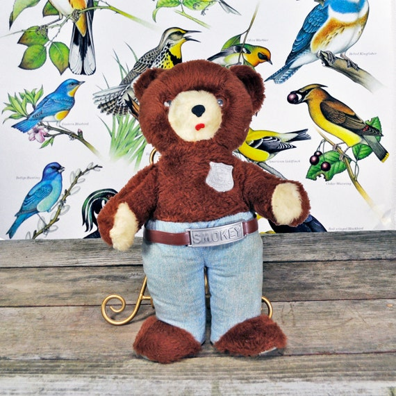 Instant Collection of Smokey the Bear vintage doll and 2 posters